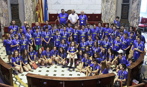 Recepció als finalistes de l'Olimpíada Matemàtica