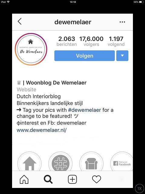 Woonblog De Wemelaer op Instagram