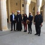 Archimandrite Nabil Wakim receiving Vassula and Sheikh Iyad at the Savior school