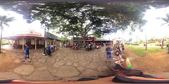Matsumoto's Shave Ice in Haleiwa Town on O'ahu's North Shore - a 360° Equirectangular VR