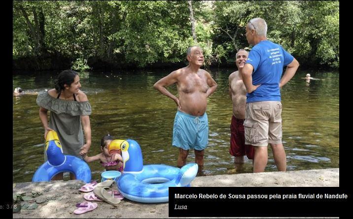 Marcelo em Nandufe, Tondela (Lusa / C.M., 4/VIII/2018)