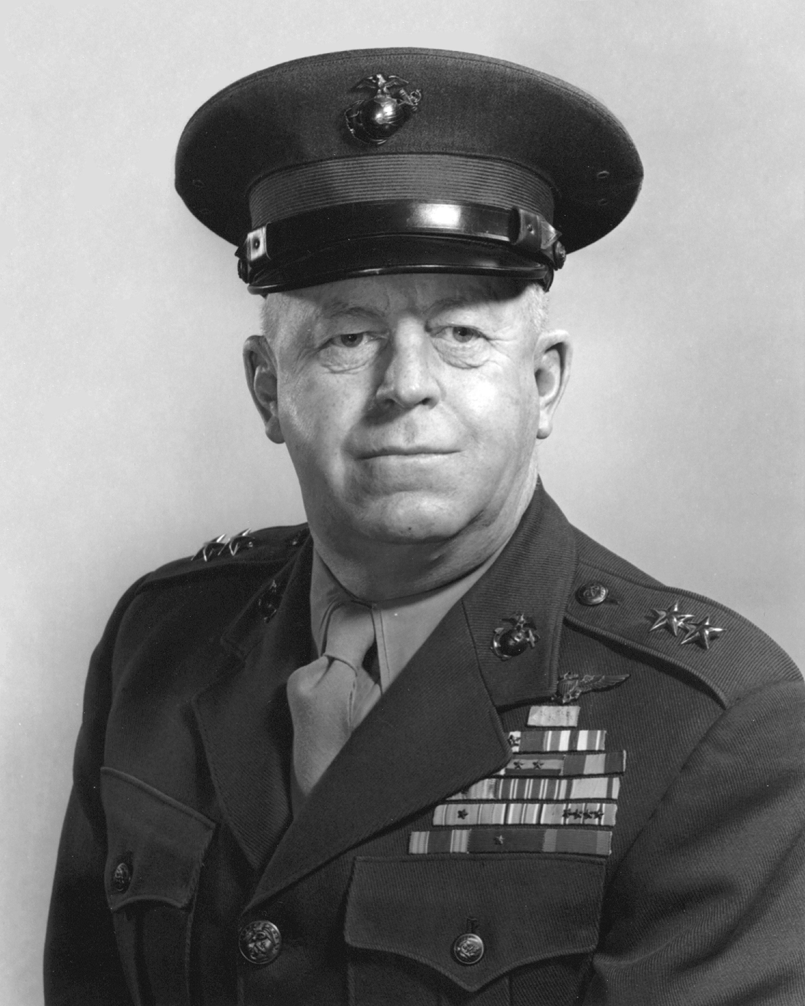 U.S. Marine Lieutenant Colonel Merritt A. Edson (here photographed as a major general) who led Marine forces in the Battle of Edson's Ridge.