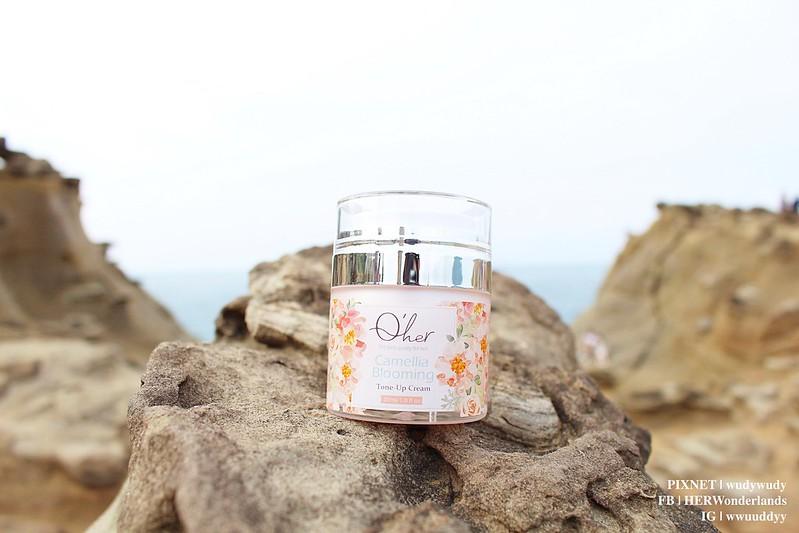 Qher 植感山茶花系列 保濕洗卸慕斯 提亮粉嫩素顏霜10