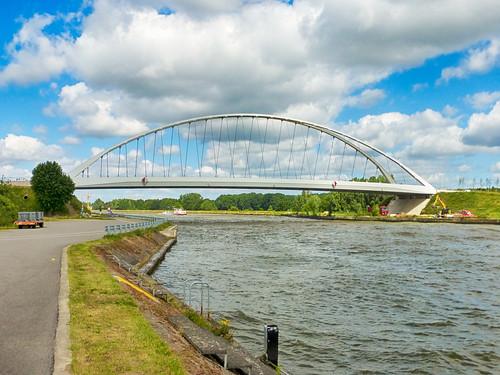 Zicht op de brug