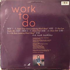 VANESSA WILLIAMS:WORK TO DO(JACKET B)