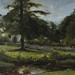 Morden Hall Park, London, study in oils, 11x14""
