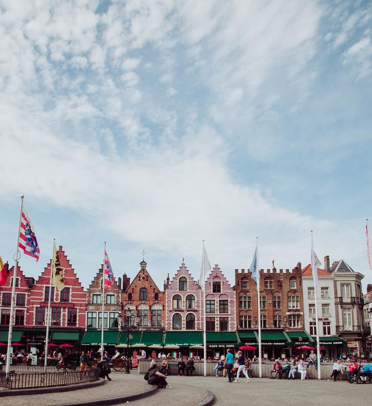 Bruges Belgium Grote Market Square Markt