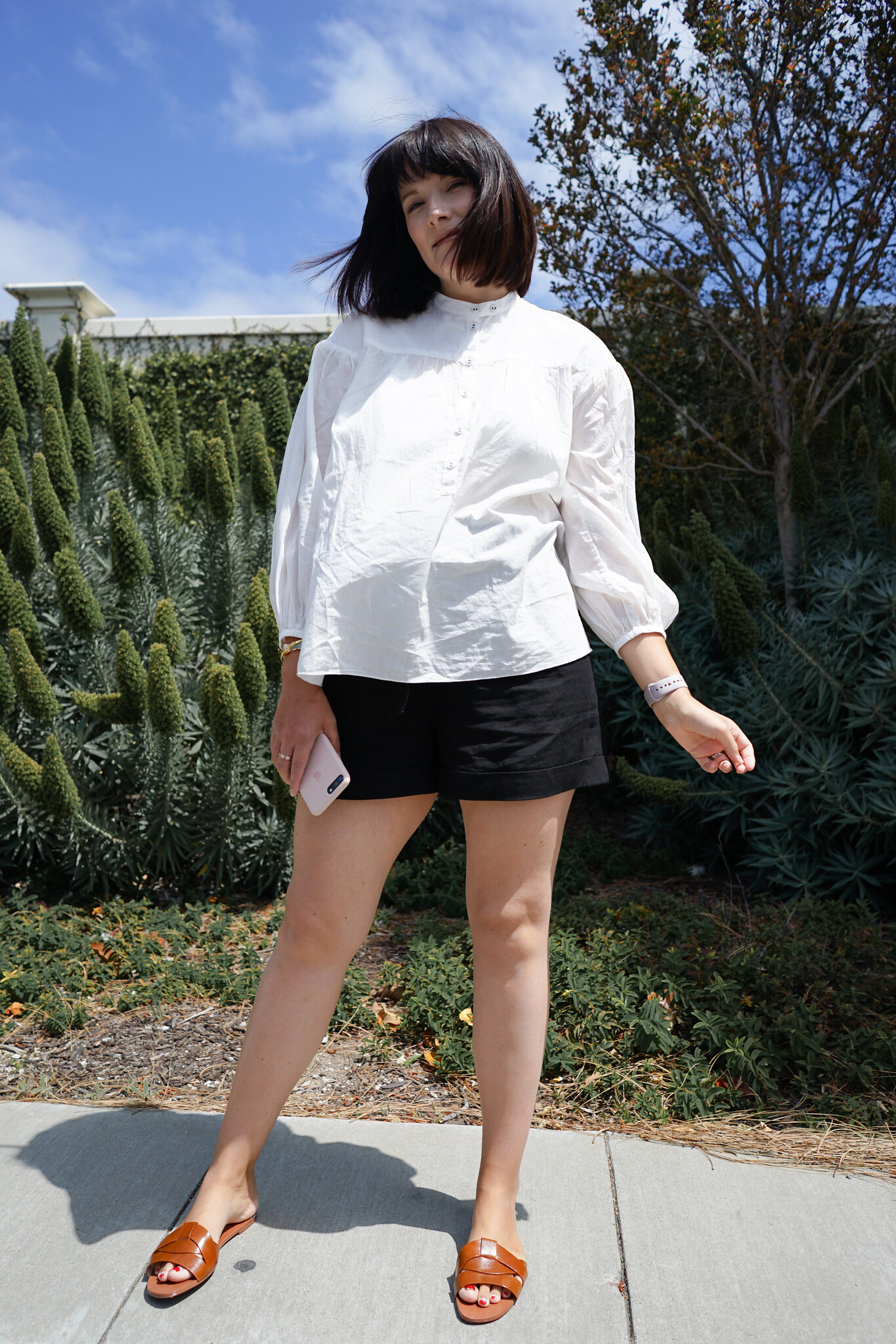 Uniqlo, Club Monaco, Tan sandals, ootd, Fbloggers, postpartum fashion, new mom, mom style