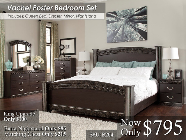 Vachel Poster Bed Set_KU