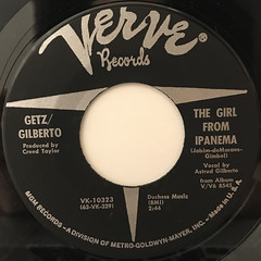 GETZ : GILBERTO:THE GIRL FROM IPANEMA(LABEL SIDE-A)