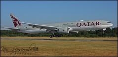 A7-BEV Boeing 777-300ER c/n 65303 Qatar Airways (EGLF-Farnborough) 15/