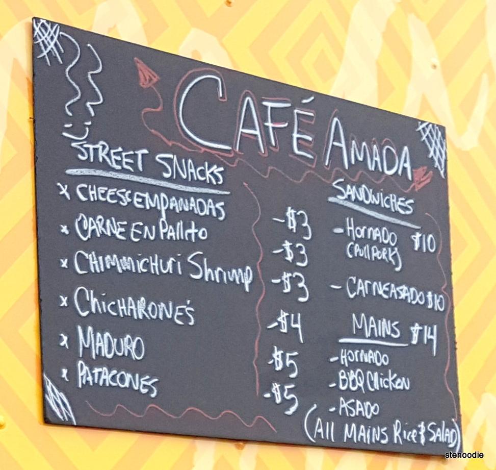 Cafe Amada By Chanchitos food truck menu