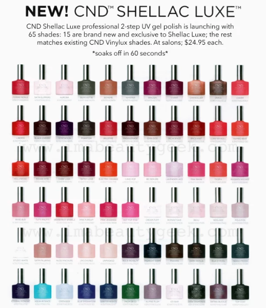 NEW CND SHELLAC LUXE UV GEL POLISH: CAN DO THIS IN JUST 60 SECONDS