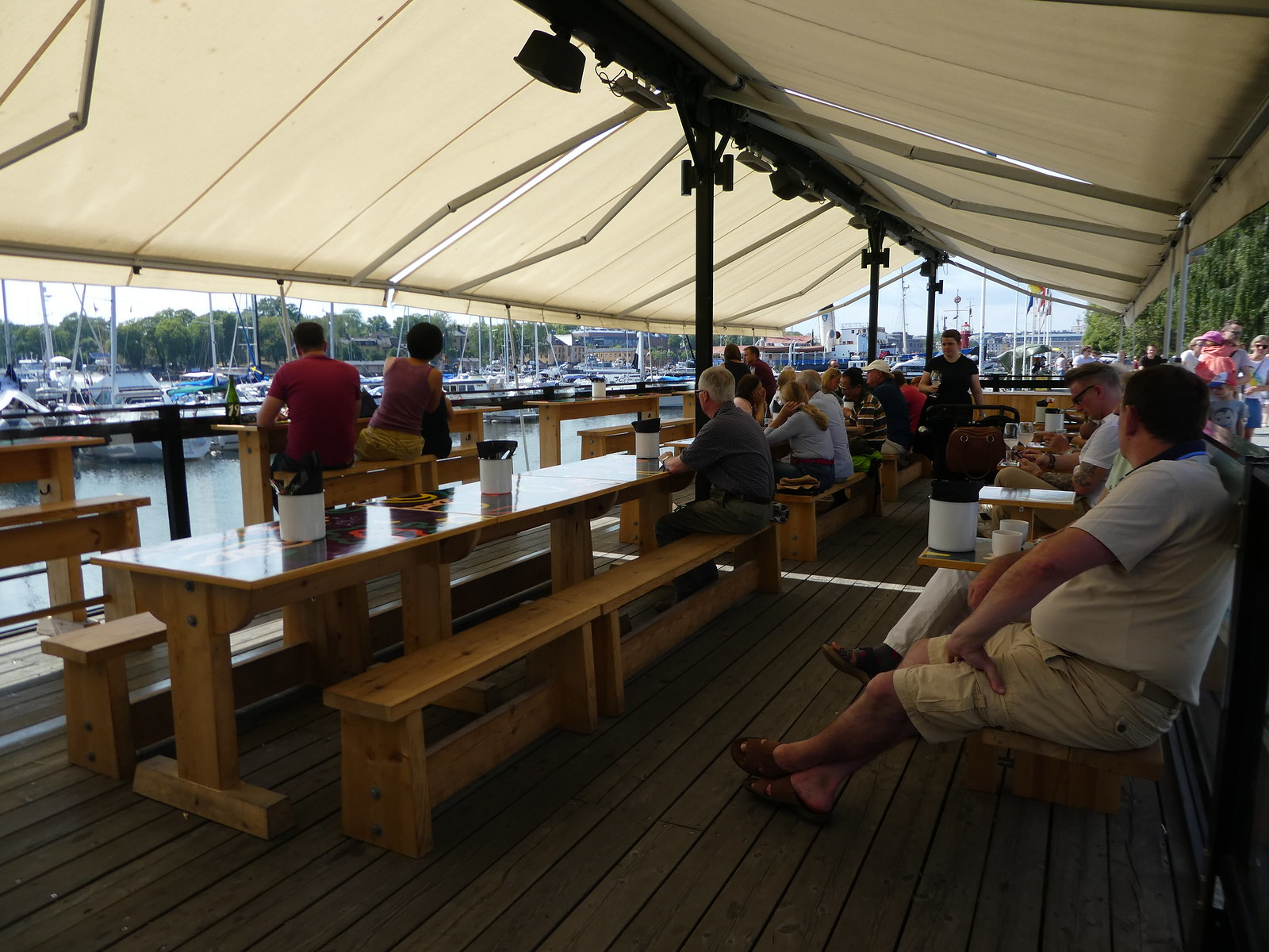 Outdoor terrace bar, Spirit Museum, Stockholm
