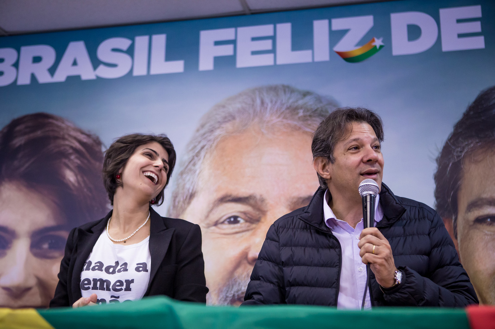 Coletiva de imprensa - Manuela D`Avila e Fernando Haddad