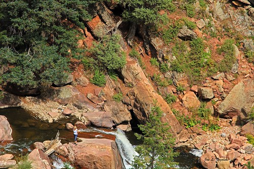 river creek water waterfall women falls rock redrock southbouldercreek eldoradocanyonstatepark hiking colorado jannagalski jannagal woman