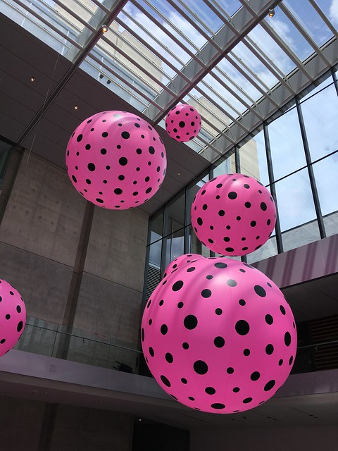 Yayoi Kusama exhibit at the Cleveland museum