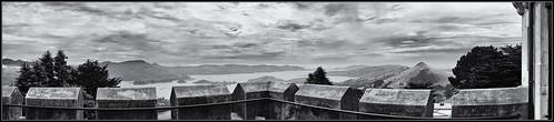nz newzealand newzealandsouthisland larnachcastle castle dunedin bw monochrome landscape seascape walls panorama