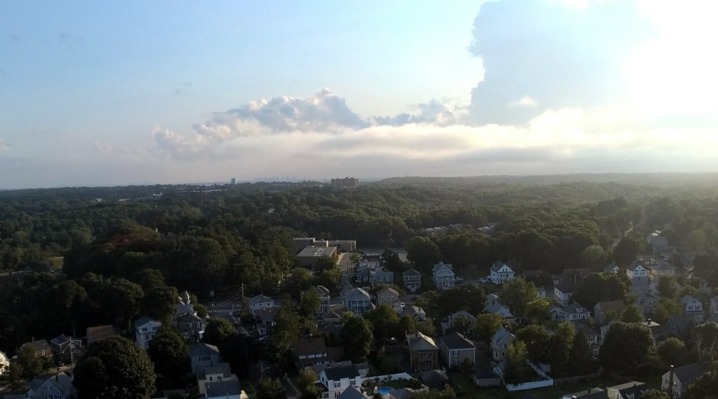 Aug 14 - view from 175 feet over Pickman Park in Salem