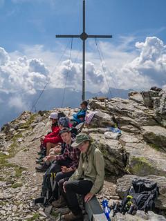 Rast auf dem Gipfel der Vermoispitze, 2.929 m