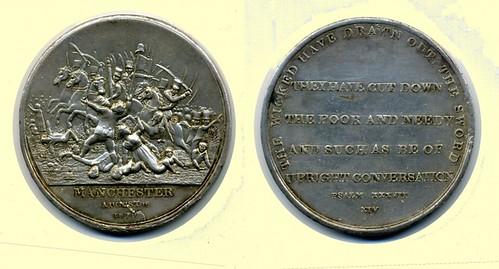 Peterloo medal