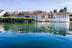 Eglisau and river Rhine