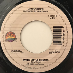 NEW ORDER:BIZARRE LOVE TRIANGLE(LABEL SIDE-B)