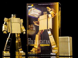 POSE+ METAL series《黃金戰士》 P+01 黃金打火機(ゴールドライタン;GOLD LIGHTAN)