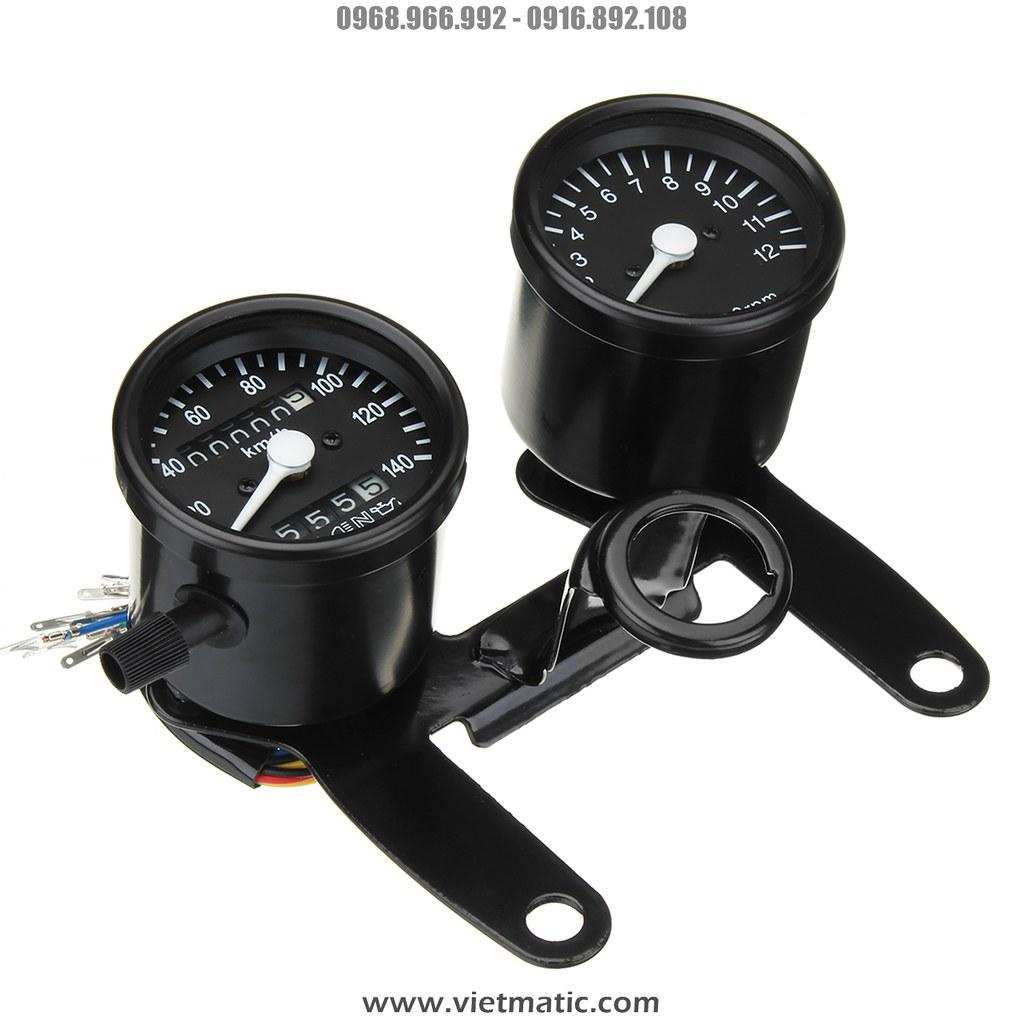 Đồng hồ Cafe Racer đầy đủ chức năng