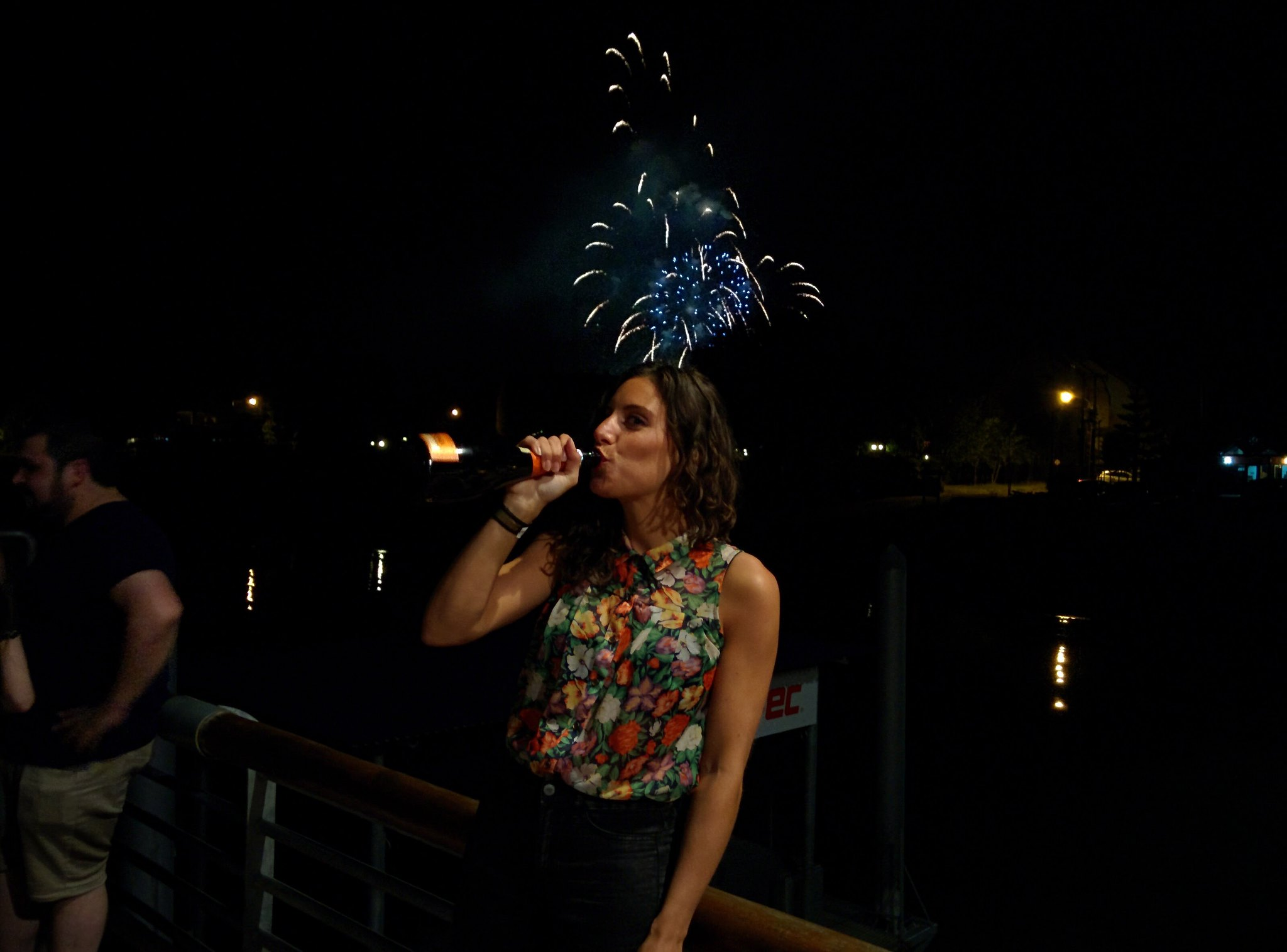 Silvana drinks in the new year