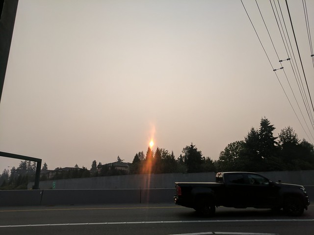 Unhealthy Air: Orange Sunrise