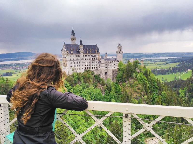 Fotografía del Castillo de Neuschwanstein desde el mirador de Marienbrücke