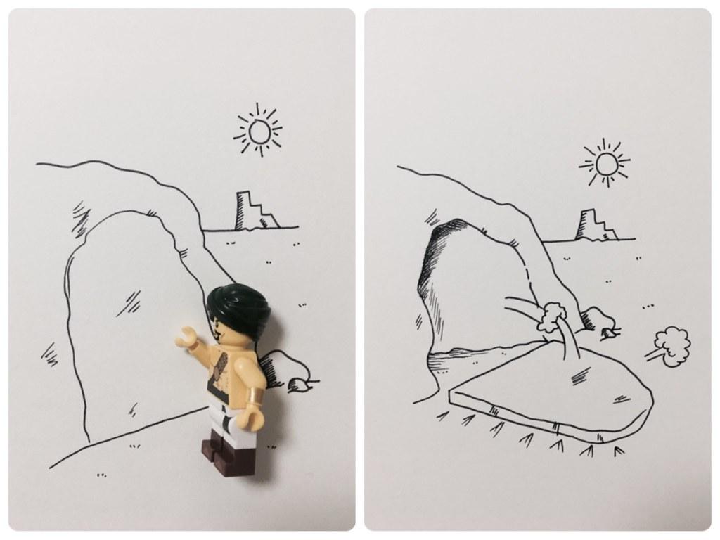 사막의 전사와 드로잉 Desert Warrior & Drawing
