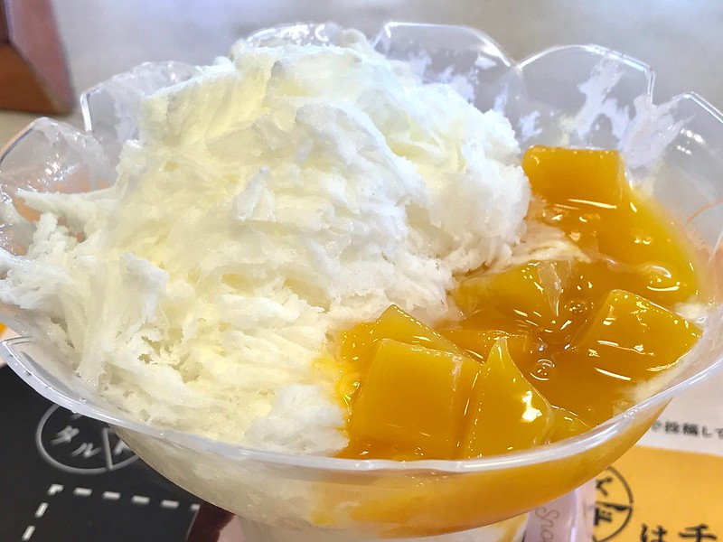 ミスタードーナツのマンゴーかき氷