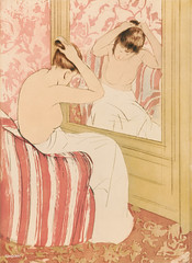 The Coiffure illustration by Mary Cassatt (1844-1926). Original from Library of Congress. Digitally enhanced by rawpixel.