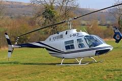 G-BKZI Bell 206B Jet Ranger II [118] Cheltenham Racecourse~G 17/03/201