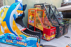 Different arcade game machines for kids at Afytos Park