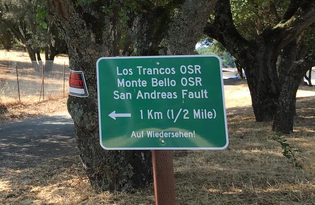 Los Trancos/Monte Bello/San Andreas Fault - Auf Wiedersehen!