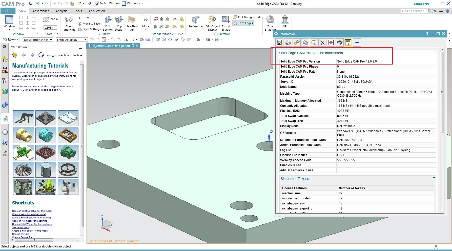 Machining with Siemens Solid Edge CAM Pro 2019 full license
