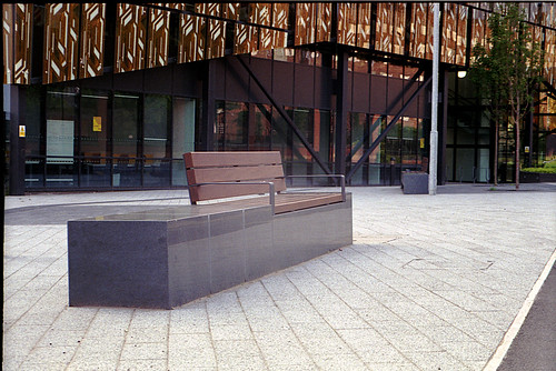 A Bench and an Ugly Building