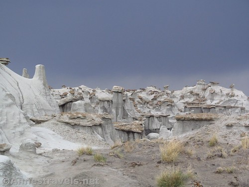 A storm rises over the Valley of Dreams East, Ah-She-Sle-Pah Wilderness, New Mexico
