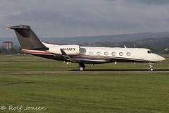 N456FX GIV-X (G450) Private Glasgow airport EGPF 16.08-18