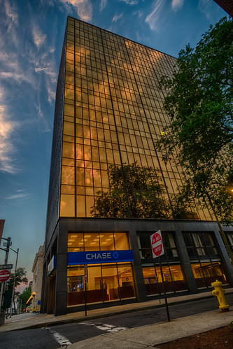 chase chasebank connecticut hdr newhaven nikon nikond5300 architecture building city clouds firehydrant geotagged reflection reflections sidewalk sky skyscraper street sunlight tree trees windows unitedstates