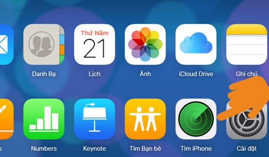 cách xóa dữ liệu trên iphone qua icloud