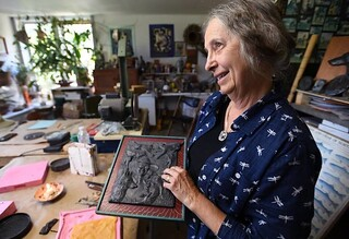 Jeanne Stevens-Sollman in studio