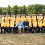Vatican cricket team with Her Majesty Queen Elizabeth