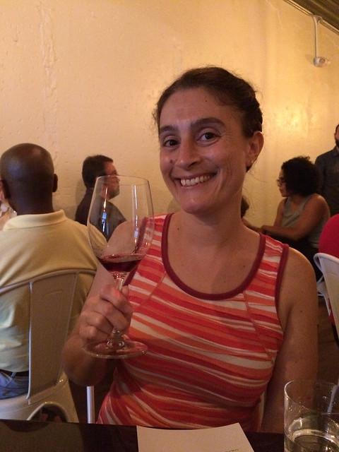 Maria at Bar Brunello Tasting