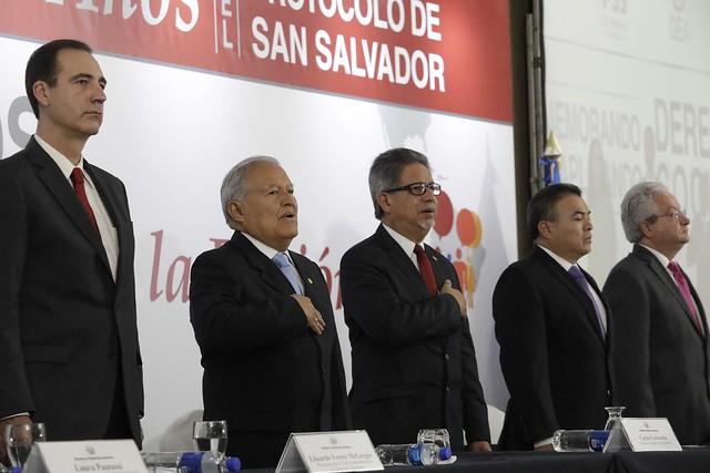Conmemoración de los 30 años de Protocolo de San Salvador y aplicando los Derechos sociales en la Región.