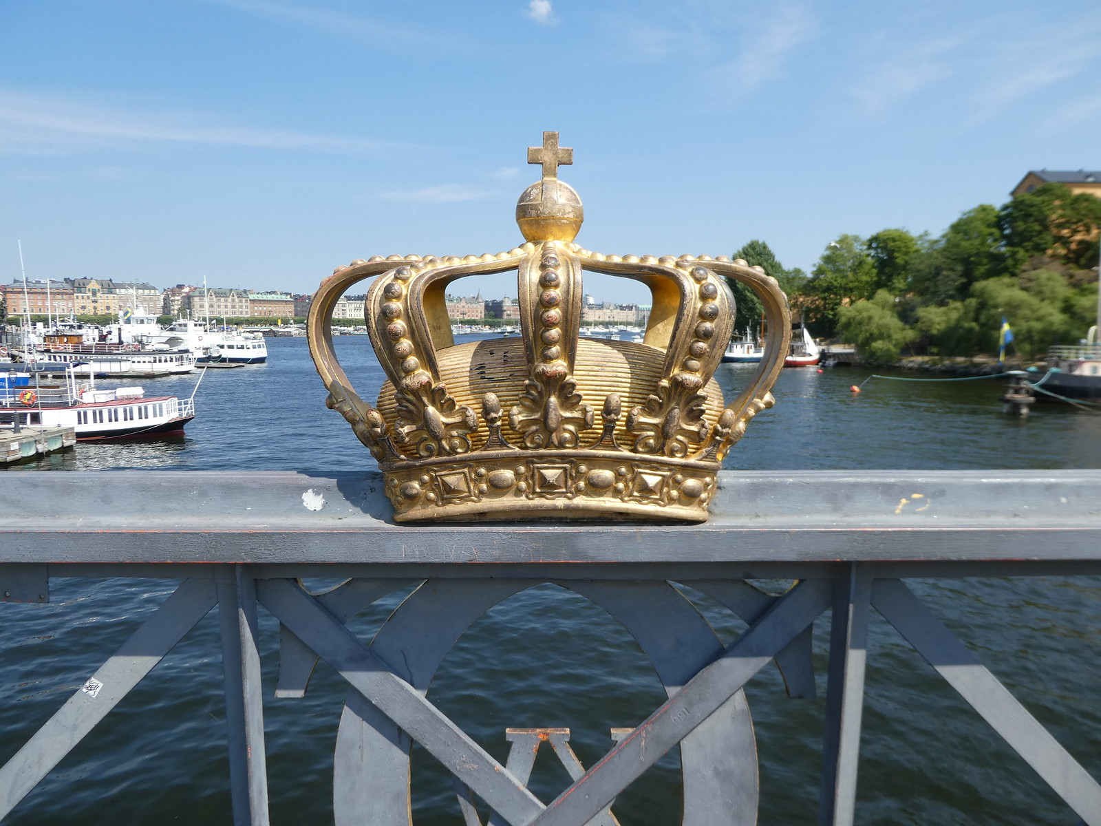 Crown on Skeppsholmen Bridge, Stockholm