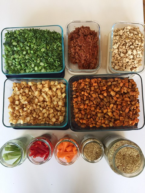 Family meal prep ideas - veggies and protein